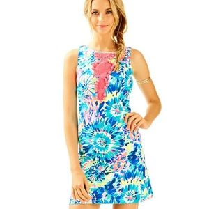 Lilly Pulitzer Adara Shift Dress Size 4 Dive In